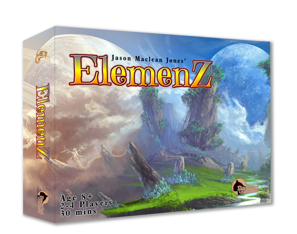 Elemenz dice game box