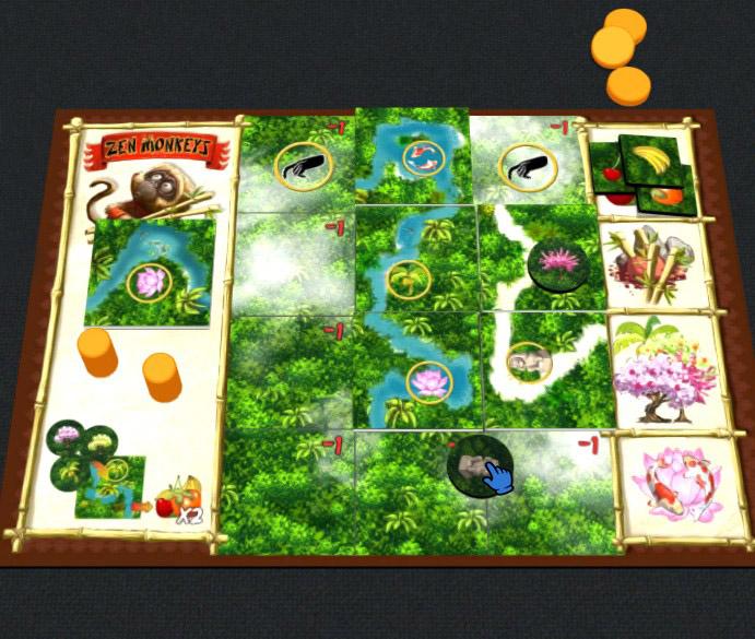 Zen Monkeys Player board