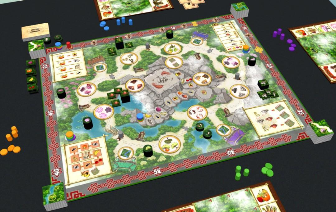 Zen Monkeys game board
